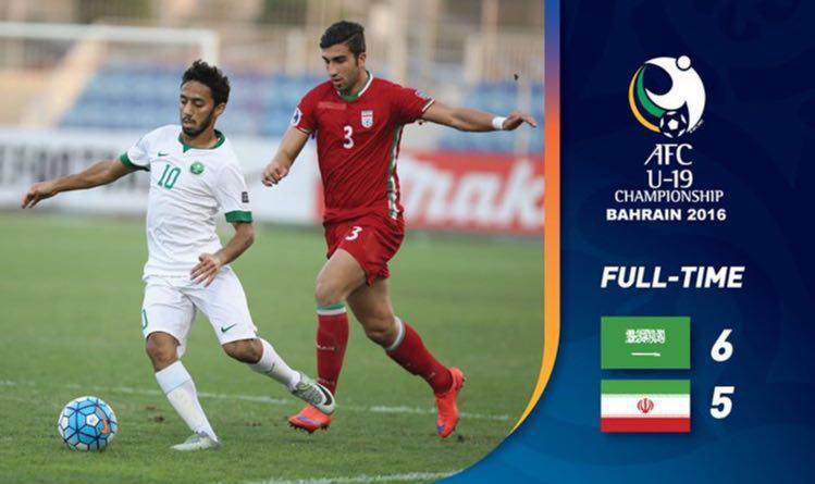 نتیجه بازی جوانان ایران و عربستان 6 آبان 95 | خلاصه و گلها امروز