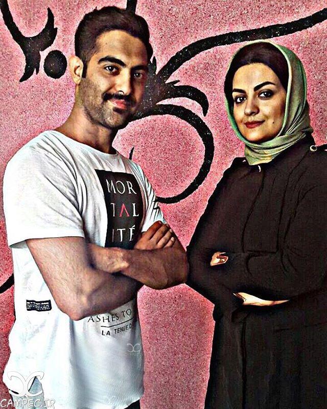 عکس لیلا ایرانی با برادرش