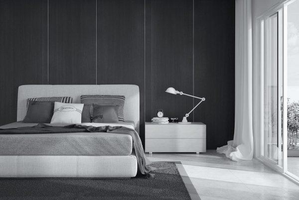 عکس اتاق خواب با تم خاکستری3
