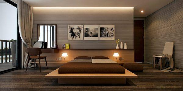 عکس اتاق خواب با تم خاکستری9