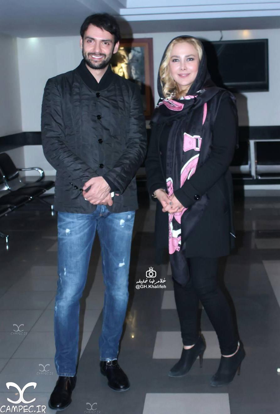 انا نعمتی و امیر علی دانایی در اکران خصوصی فیلم جاودانگی