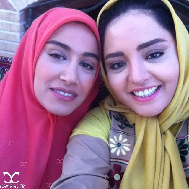 آزاده اسماعیل خانی و نرگس محمدی پشت صحنه سریال معمای شاه