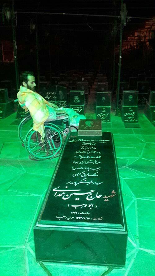 جانباز مدافع حرم مرتضی قلیچ خانی