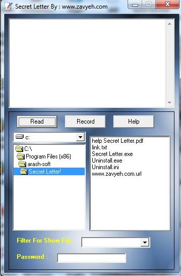 برنامه نوشتن نامه های محرمانه وعاشقانه,SECRET LETTER