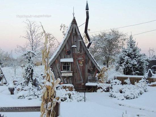 روستایی با کلبه های جالب و زیبا