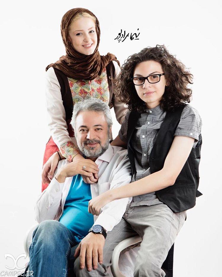 حسن جوهرچی با دخترش آوا و پسرش علی