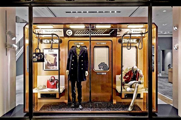طراحی ویترین مغازه با الهام از مترو