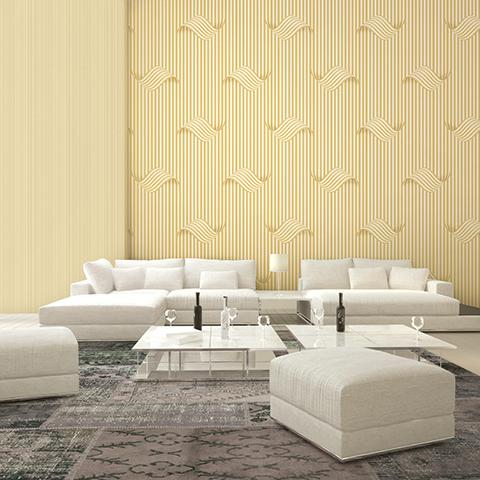 کاغذ دیواری طرح دار و کاغذ دیواری ساده image