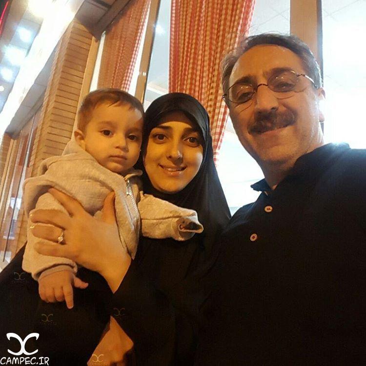 شهرام شکیبا با همسرش ستاره سادات قطبی و پسرشان