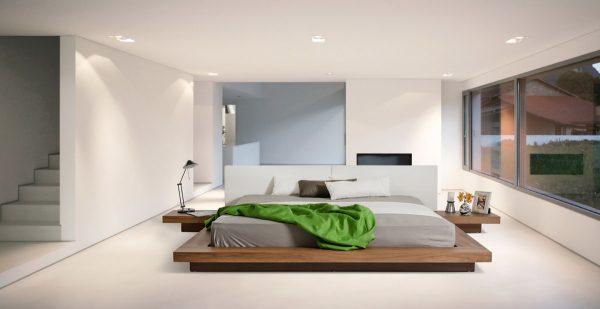 عکس اتاق خواب با تخت کم ارتفاع5