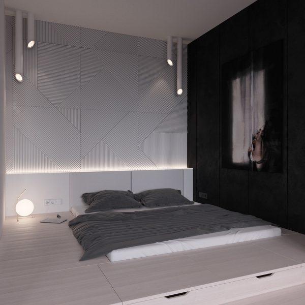 عکس اتاق خواب با تخت کم ارتفاع8