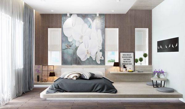 40 عکس اتاق خواب با تخت کم ارتفاع