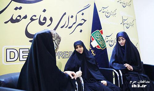 همسران شهیدان مدافع حرم روح الله قربانی و امین کریمی