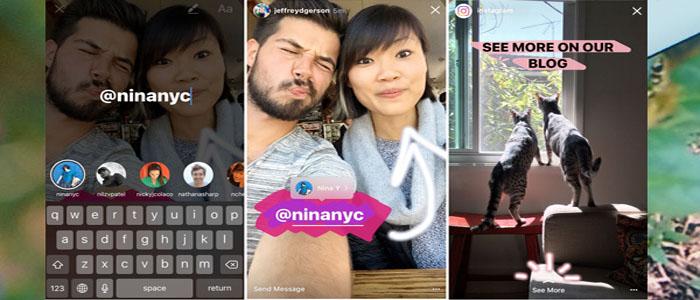 قابلیت جدید اینستاگرام : منشن، لینک و کلیپهای بومرنگ را به استوری اضافه شد