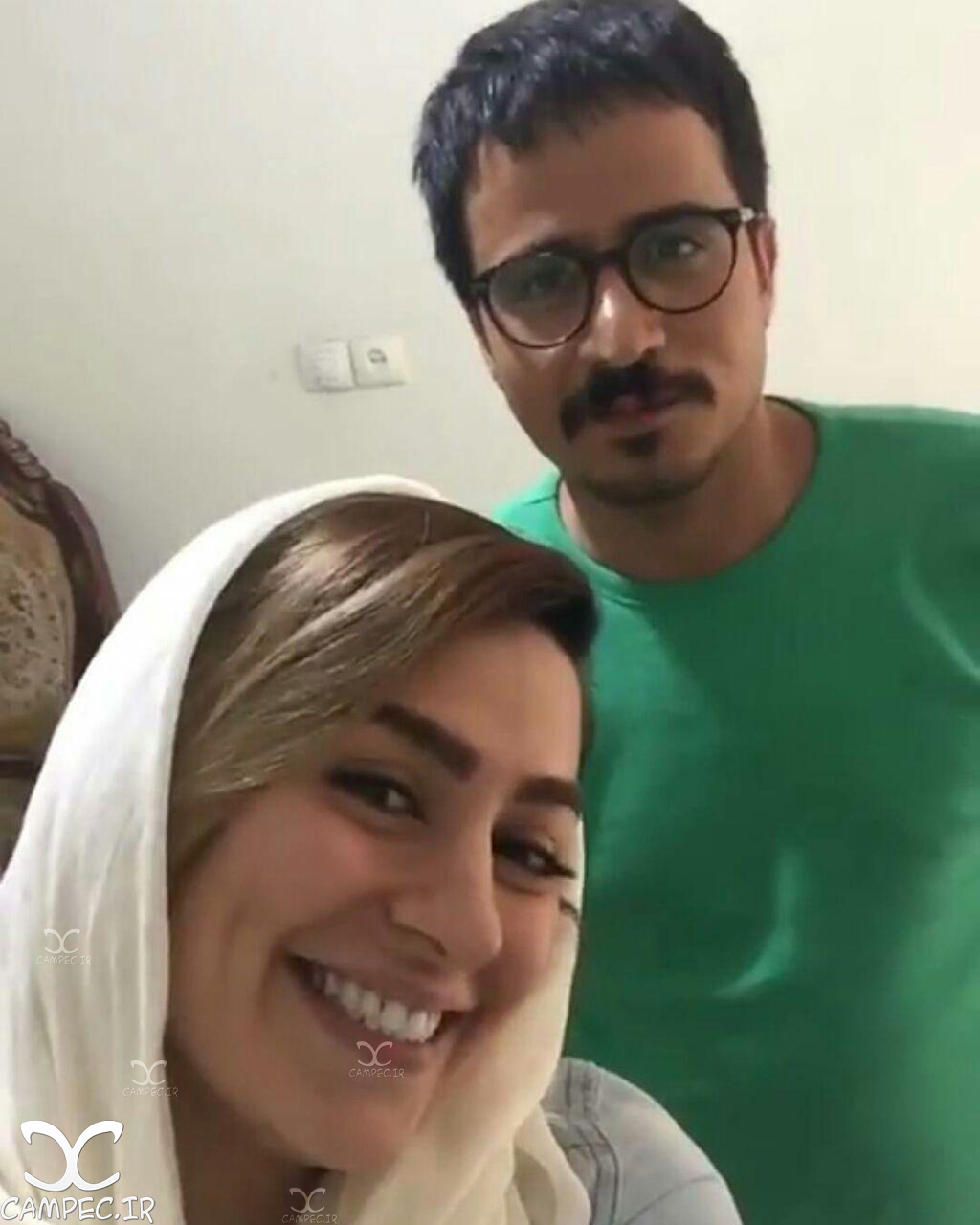 سمانه پاکدل و حسین سلیمانی بازیگران سریال همسایه ها