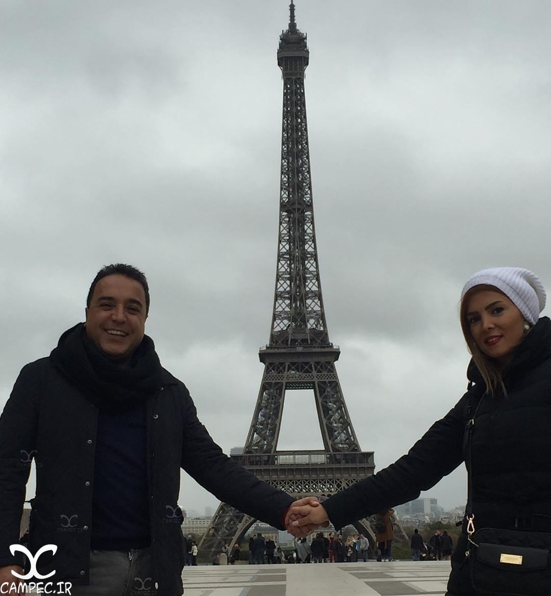 بهزاد محمدی با همسرش