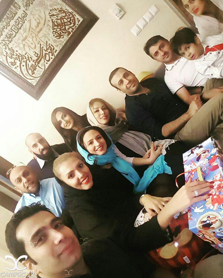 گلاره عباسی با همسرش و محسن جاوشی با همسرش