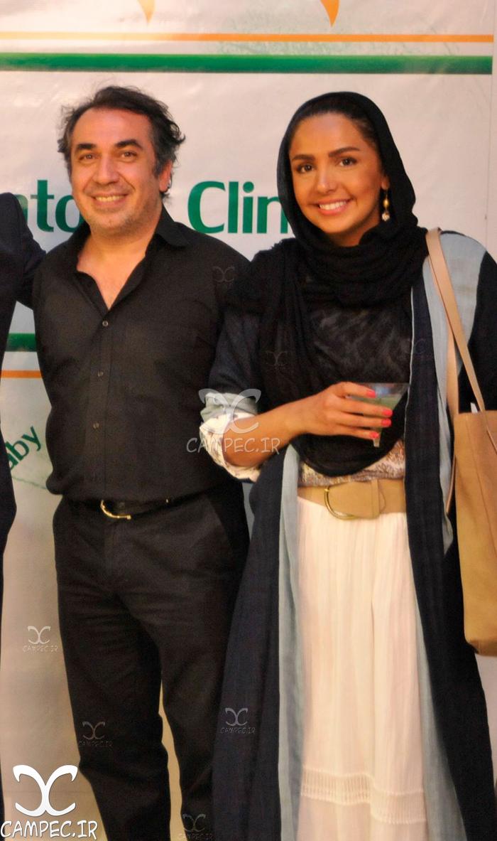 سیامک انصاری با همسرش طناز هادیان