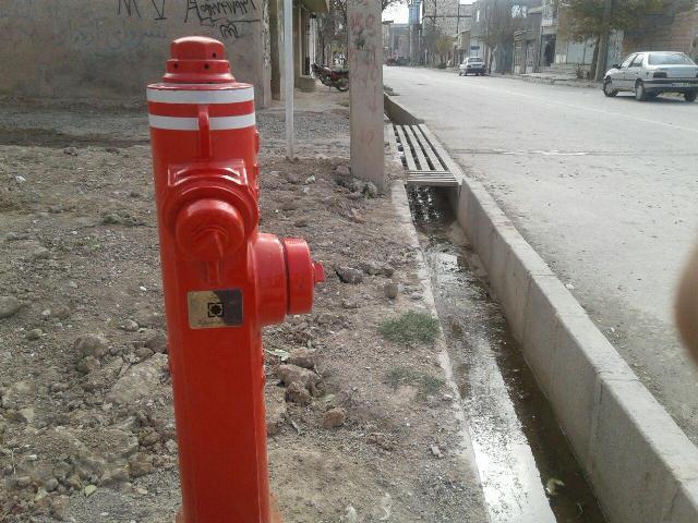 نصب شیرهیدرانت در دو نقطه از شهر