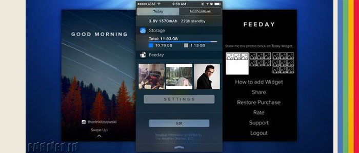 آموزش تصویری اضافه کردن فید اینستاگرام به مرکز اعلان یا همان ناتیفیکیشن سنتر iOS