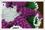 رومیزی قلاب بافی با طرح انگور