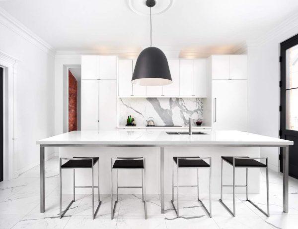 سنگ مرمر سفید در آشپزخانه5