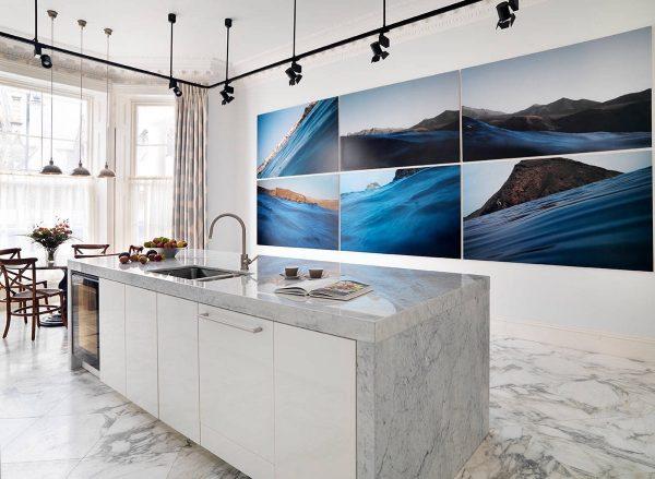 سنگ مرمر سفید در آشپزخانه9