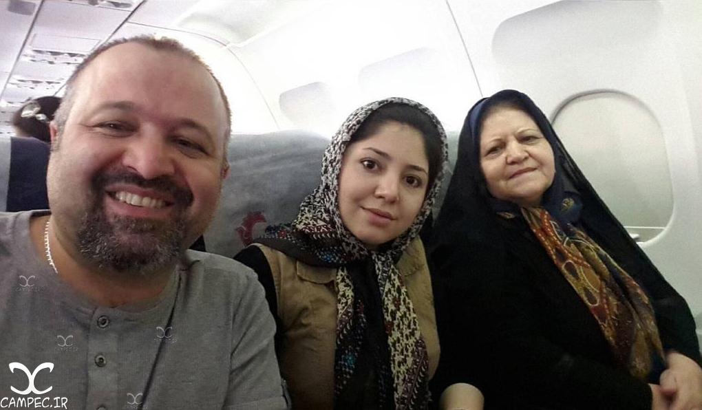 علی صالحی با خواهر و مادرش