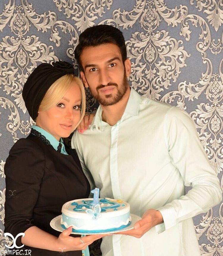 حسین ماهینی با همسرش