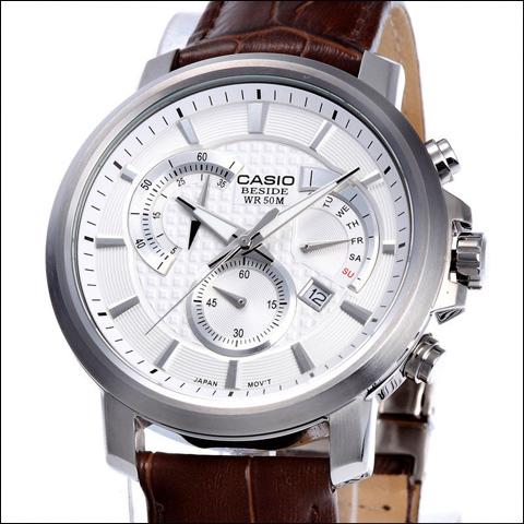 فروش ساعت کاسیو بند چرم مردانه