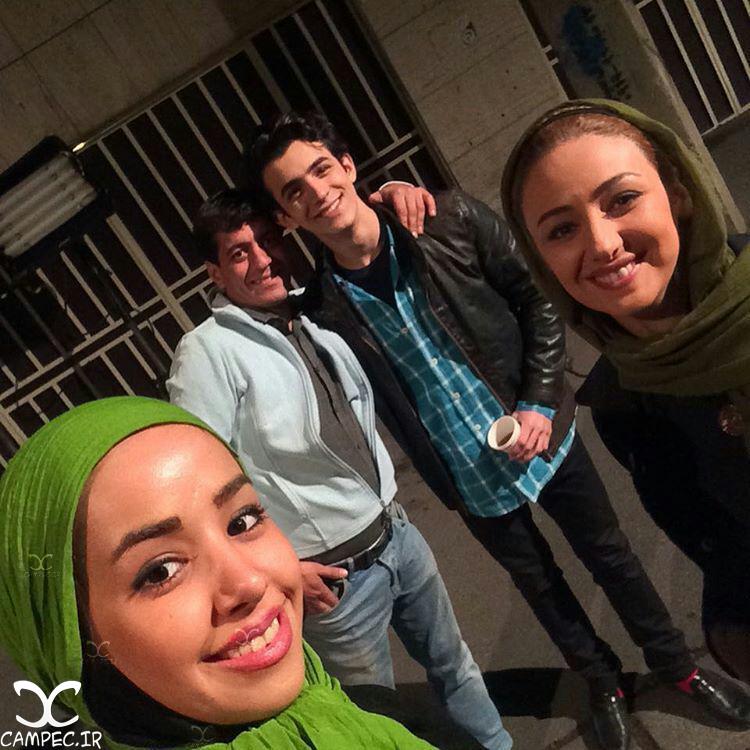 ویدا جوان و علی شادمان سر صحنه مجموعه ماه و پلنگ