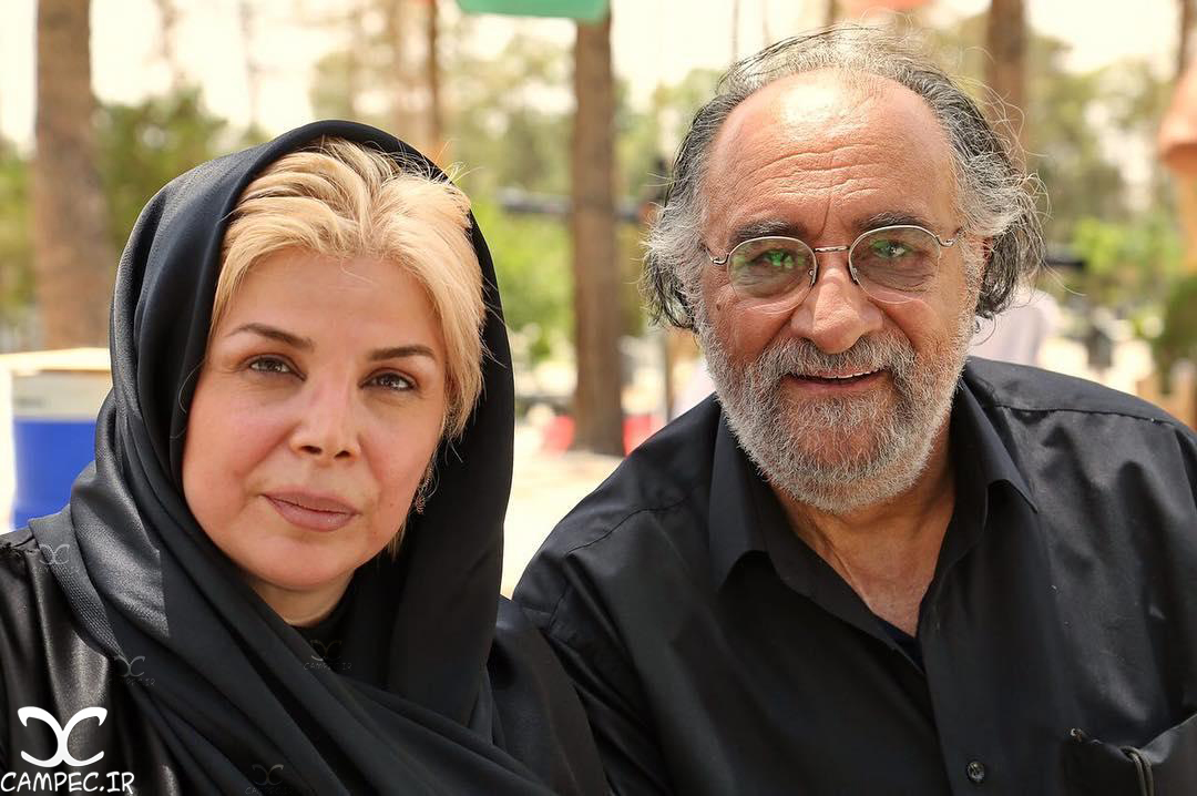 داریوش ارجمند و شیوا خنیاگر سر صحنه مجموعه ماه و پلنگ