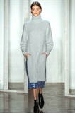 مانتو بافت زنانه زمستانی جلو بسته یقه اسکی