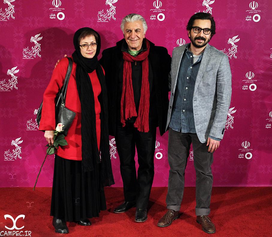 رضا کیانیان با همسر و پسرش