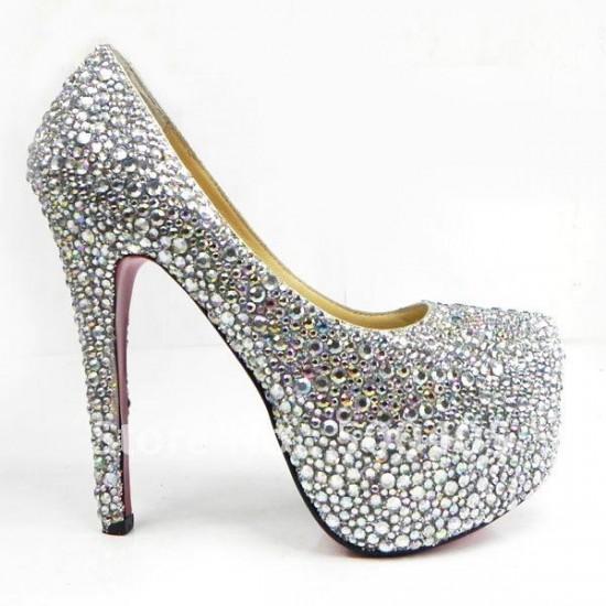 مدل کفش پاشنه  بلند شیک عروس سری 7
