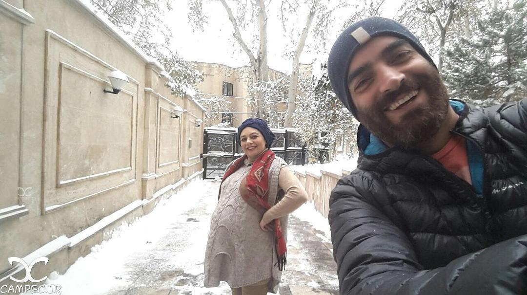 عکس یکتا ناصر با همسرش در زمان بارداری