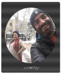 یکتا ناصر با همسرش در زمان بارداری در روز برفی