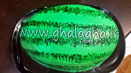 طرز تهیه کیک هندوانه ای