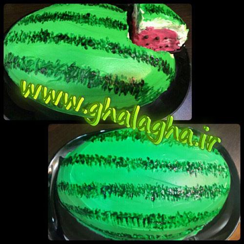 کیک هندوانه ای ویژه شب یلدا