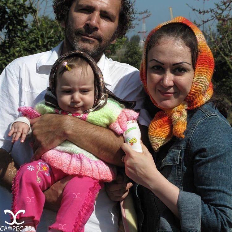 افشین سنگ چاپ با همسر و دخترش
