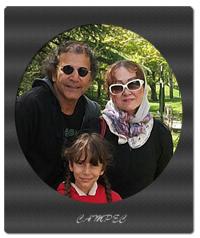 افشین سنگ چاپ با همسر و دخترش + عکسها و بیوگرافی