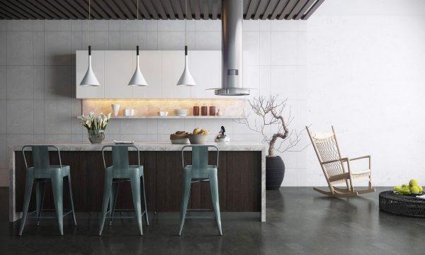 کابینت خاکستری در آشپزخانه10