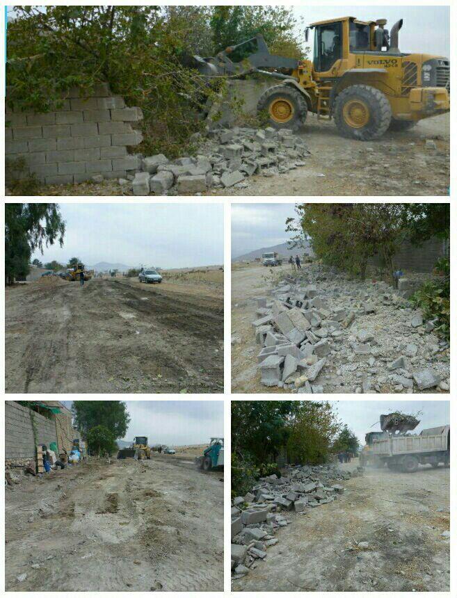خیابان جدید در شهر نورآباد