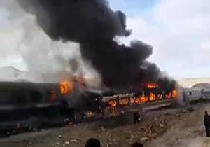 آخرین خبر و فیلم حادثه برخورد دو قطار در سمنان+جزئیات و تعداد کشته و مصدومان