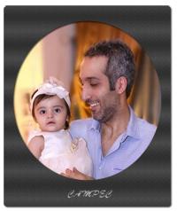 امیر مهدی ژوله در تولد یک سالگی دخترش گندم