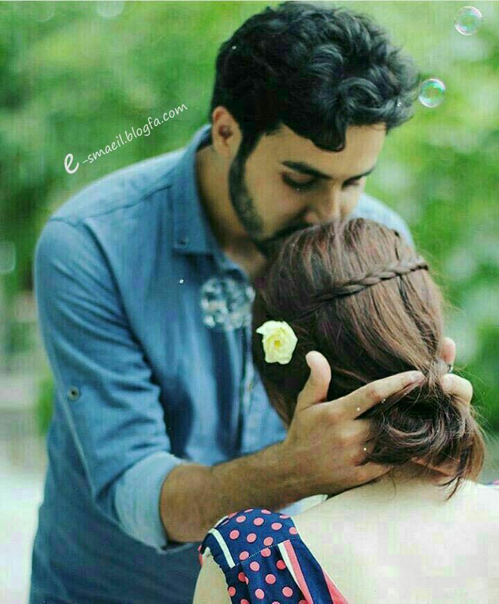 عکس عاشقانه بوسیدن پیشانی مرد