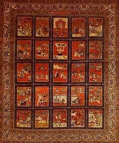 کاربردهای فرش براساس شاهنامه فردوسی
