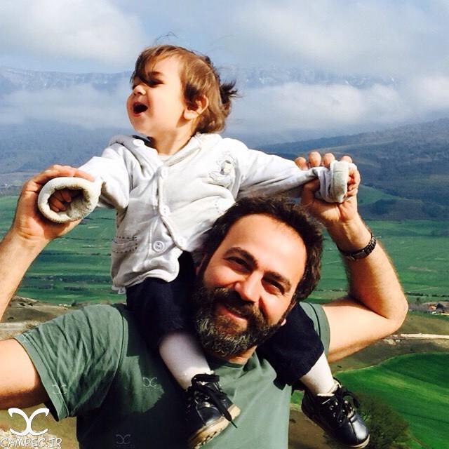 آرش مجیدی با دخترش میشا