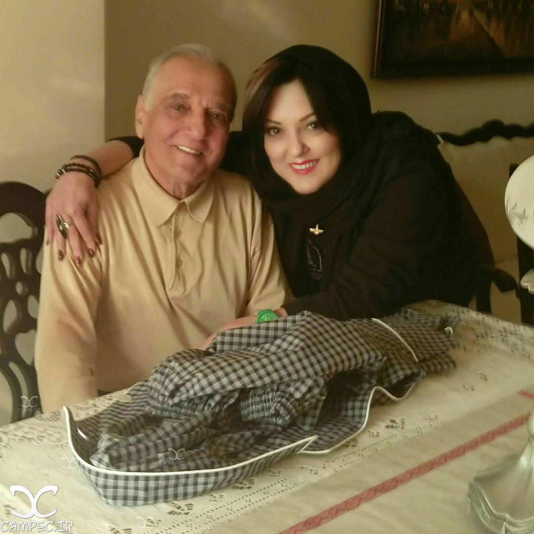 عکس پرستو گلستانی با پدرش