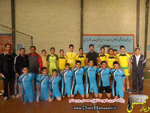 قهرمانی تیم طالقانی جابه در مسابقات والیبال مدارس ممسنی